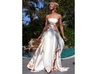 Silk Painted Wedding Dress