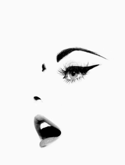 Face Of Girl  In Black & White