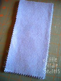 Little Birdie Secrets: how to make a felt needle book