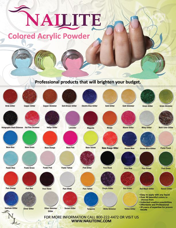 Any 3 1 2 Oz Colored Acrylic Powders With Images Colored