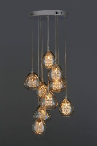 Buy bella 10 light cluster pendant from the next uk online shop buy bella 10 light cluster pendant from the next uk online shop aloadofball Images