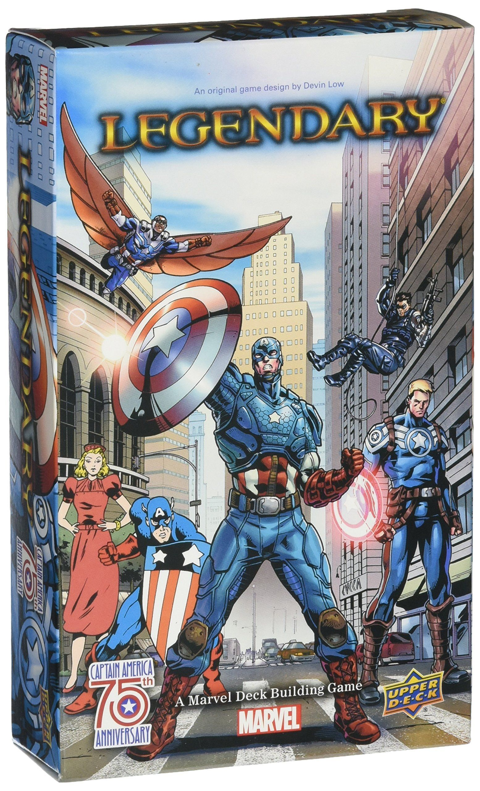 Legendary A Deck Building Game Captain America 75th