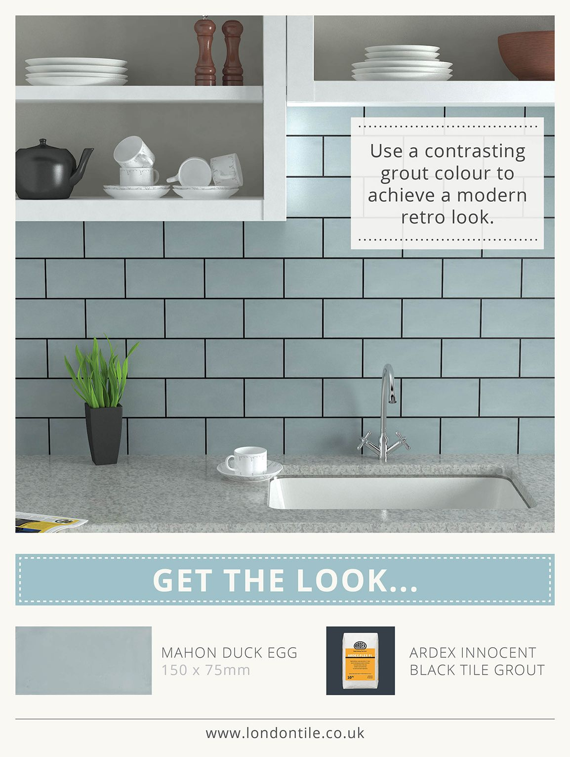 Brick tiles in duck egg blue with dark grouting home decor blue mercia duck egg ceramic tiles for kitchen wall dailygadgetfo Choice Image