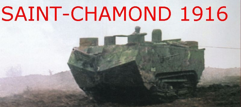 Photos of the French St. Chamond tank