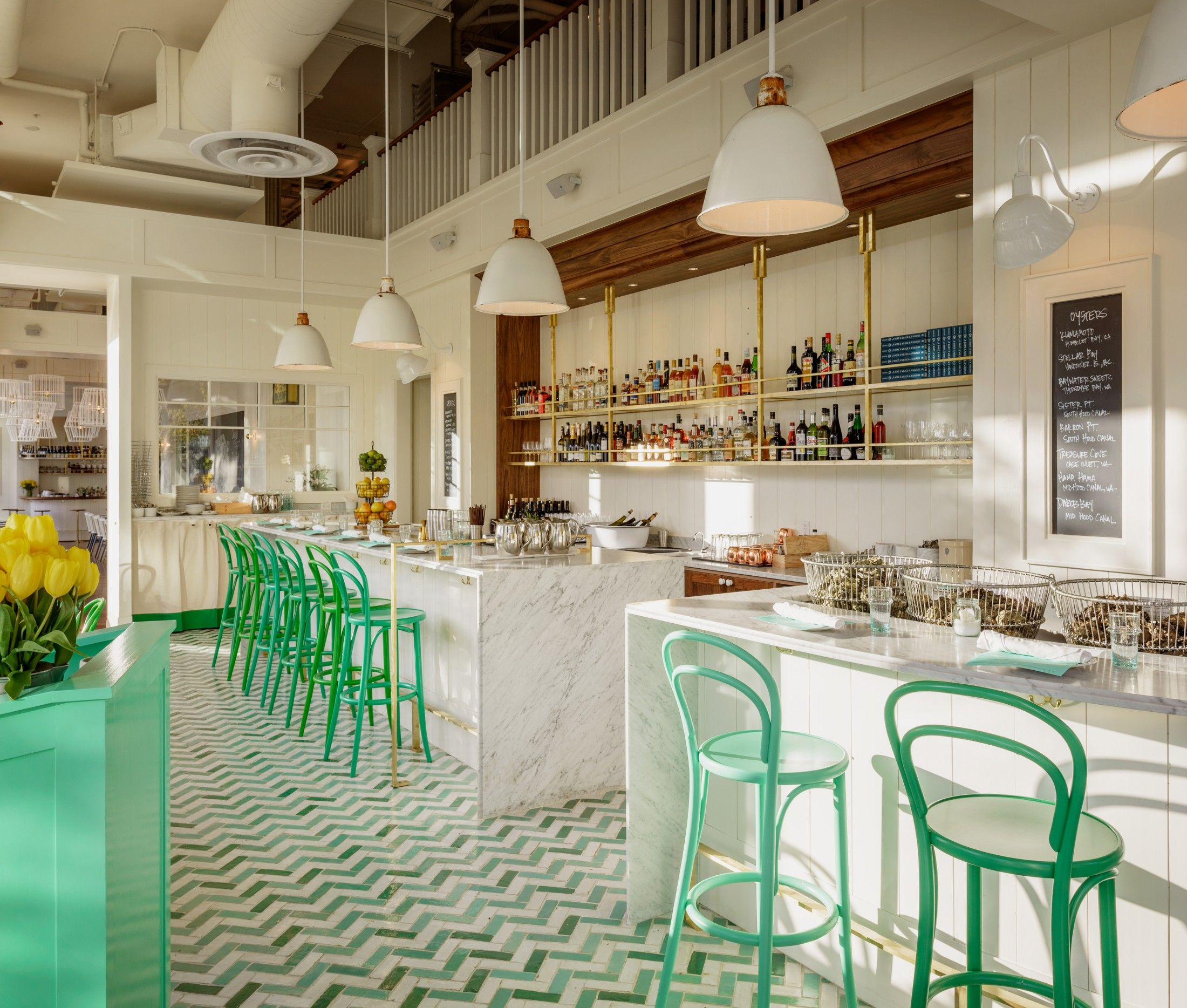 A trio of nautical restaurants from seattle chef renee - Restaurant interior design seattle ...