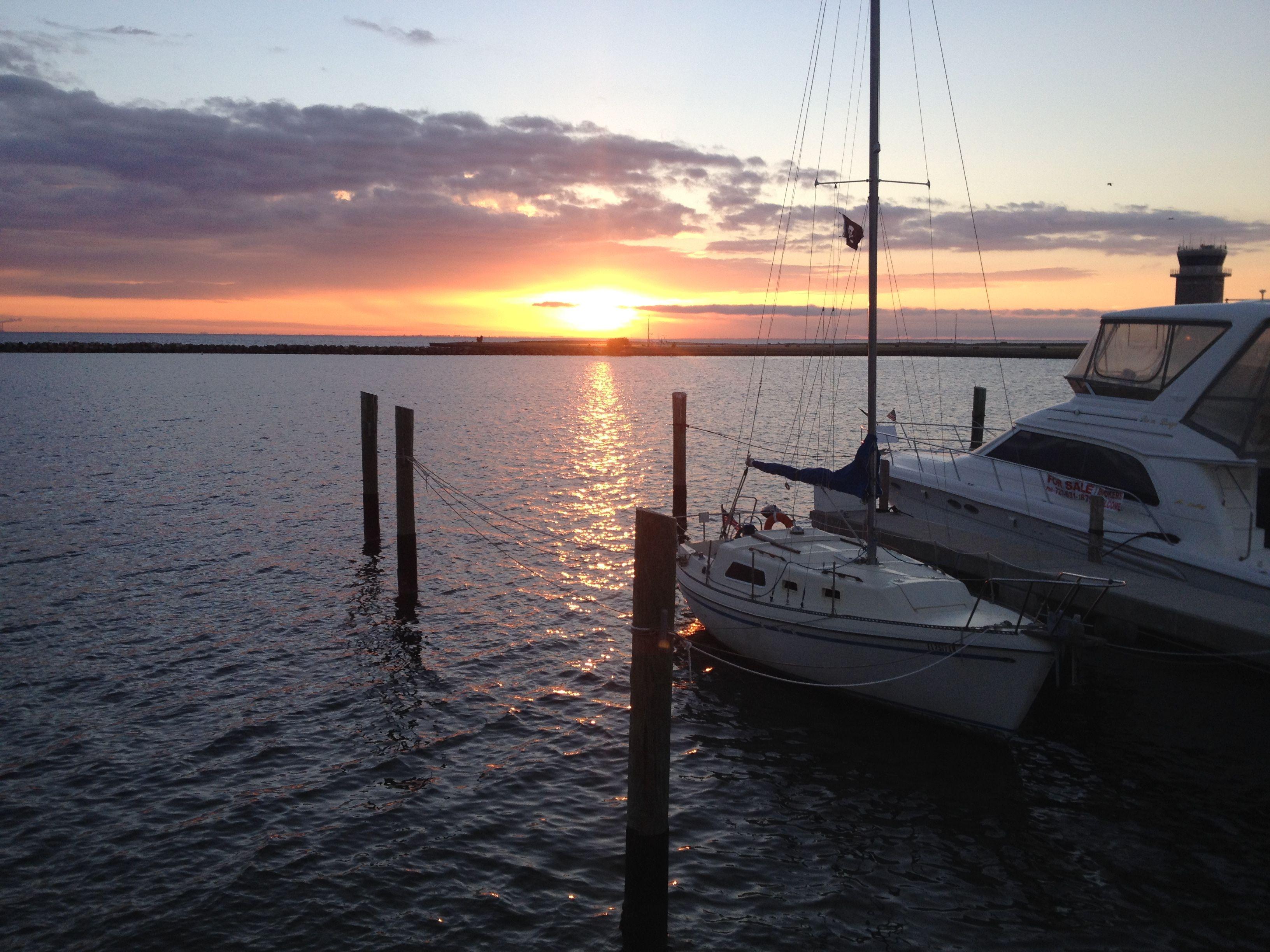 Sunrise at St. Pete Marina Flórida eua, Eua