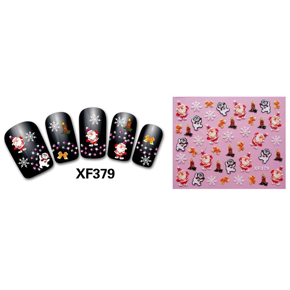 Photo of Fashion Cartoon Christmas Series Pattern Nail Art Stickers DIY Manicure Decor – as the picture