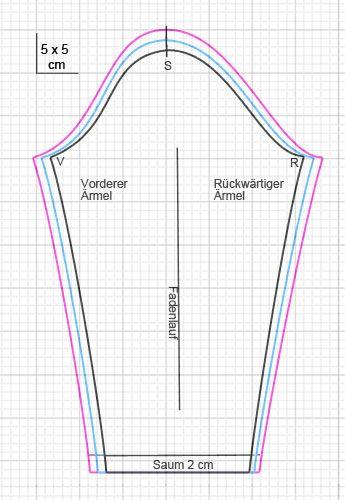 Kostenloses Schnittmuster Shirt - Ärmel … | ...ßu | Pinte…