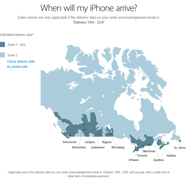 Where Is Ottawa Again IPhone Delivery Map Mixes Up Canadian - Where is ottawa