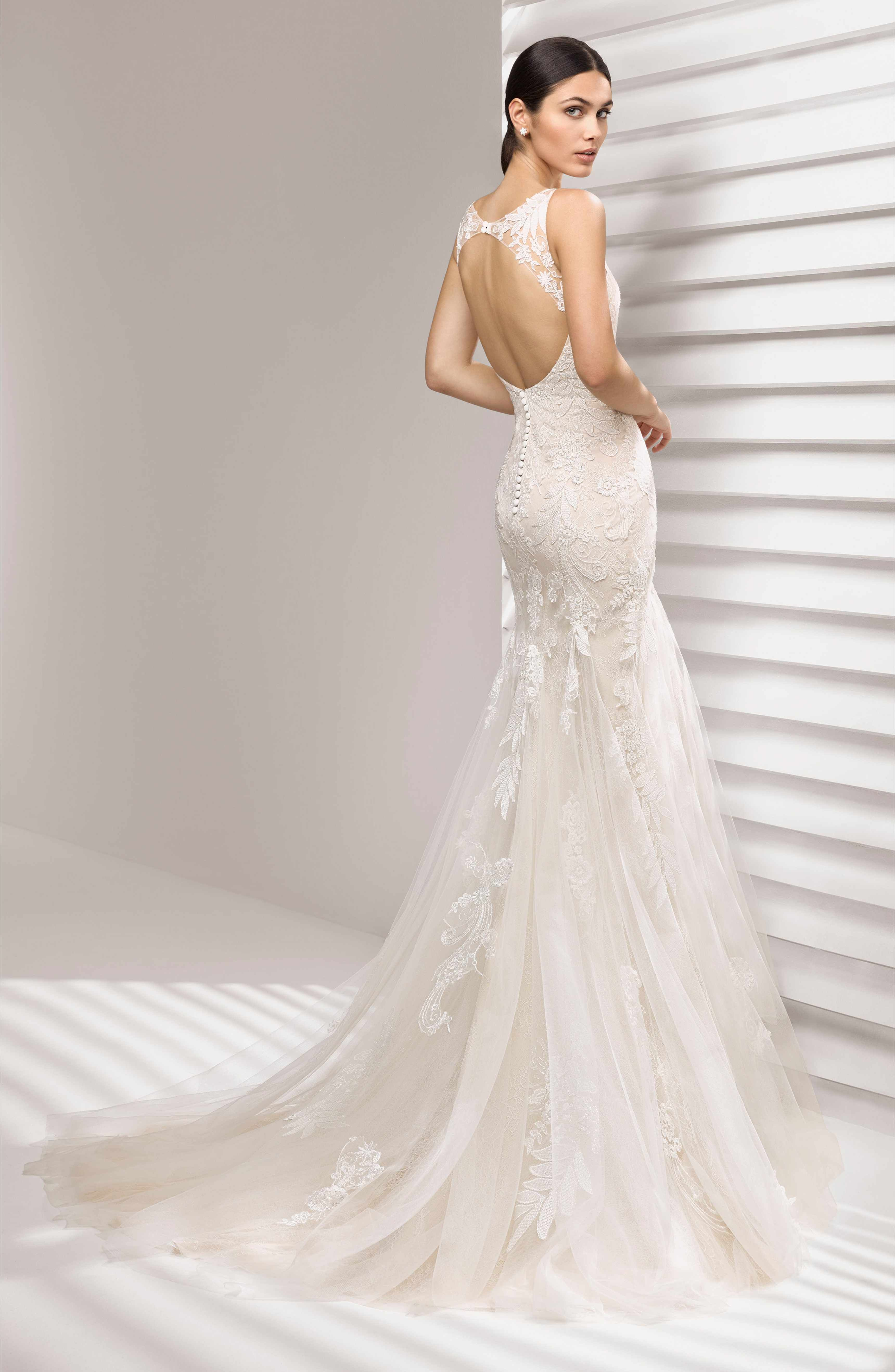 Rosa Clará Aurelia Lace Mermaid Gown Charmeuse wedding