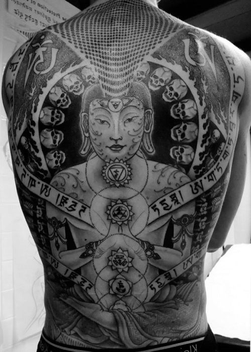 tibetian mantra tattoo back 3 tattoos pinterest mantra tattoo tattoo and tibetan tattoo. Black Bedroom Furniture Sets. Home Design Ideas