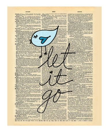 'Let It Go' Dictionary Print #zulily #zulilyfinds