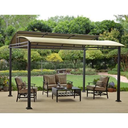 Permanent Hardtop Gazebo Aluminum Frame Galvanized Roof Mesh Walls 12 Ft X 16 Ft Sojag Patio Gazebo Pergola Patio Outdoor Gazebos