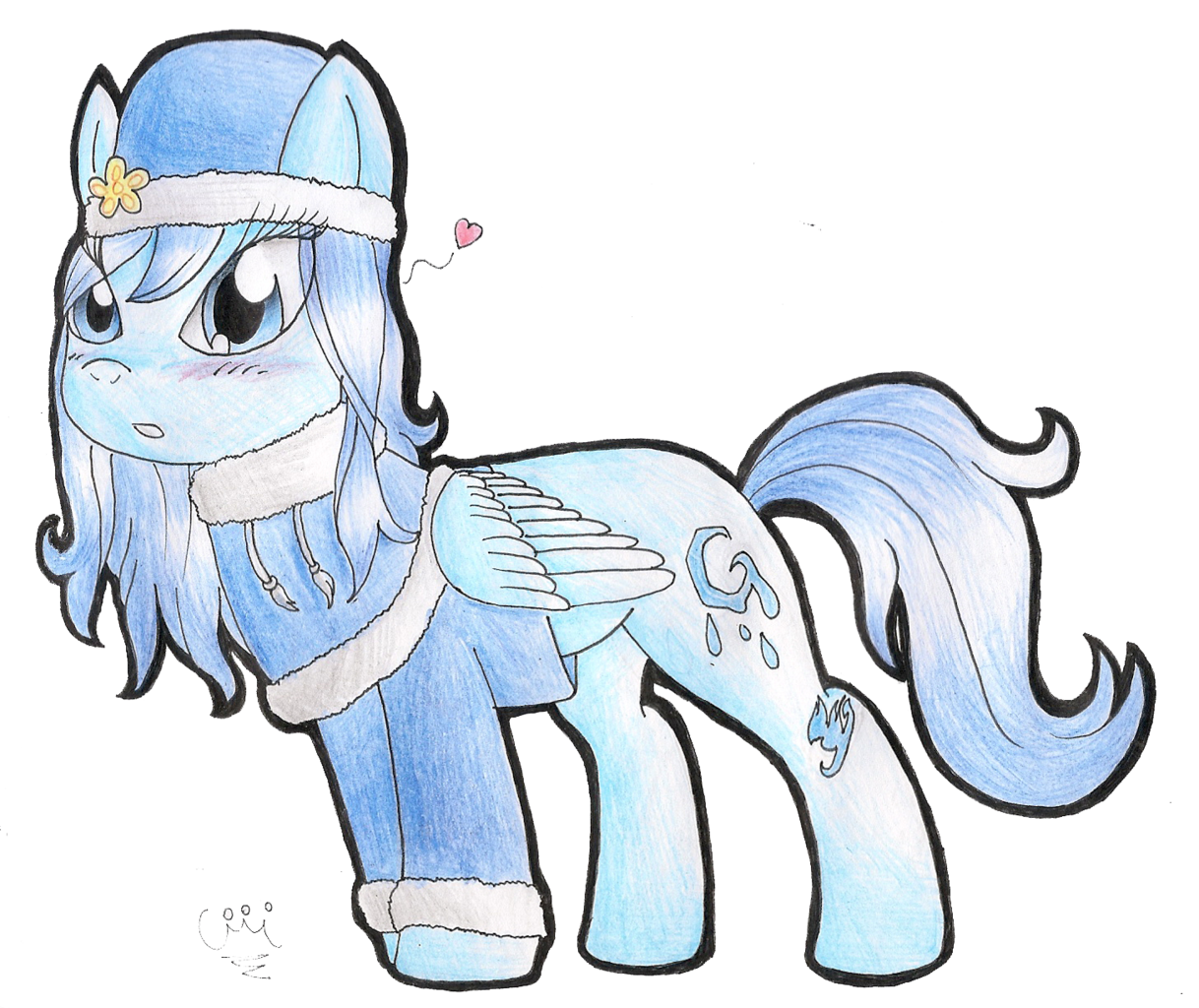 #904959 - artist:celecrypt, fairy tail, juvia lockser, ponified, safe, solo, traditional art, transparent background - Derpibooru - My Little Pony: Friendship is Magic Imageboard