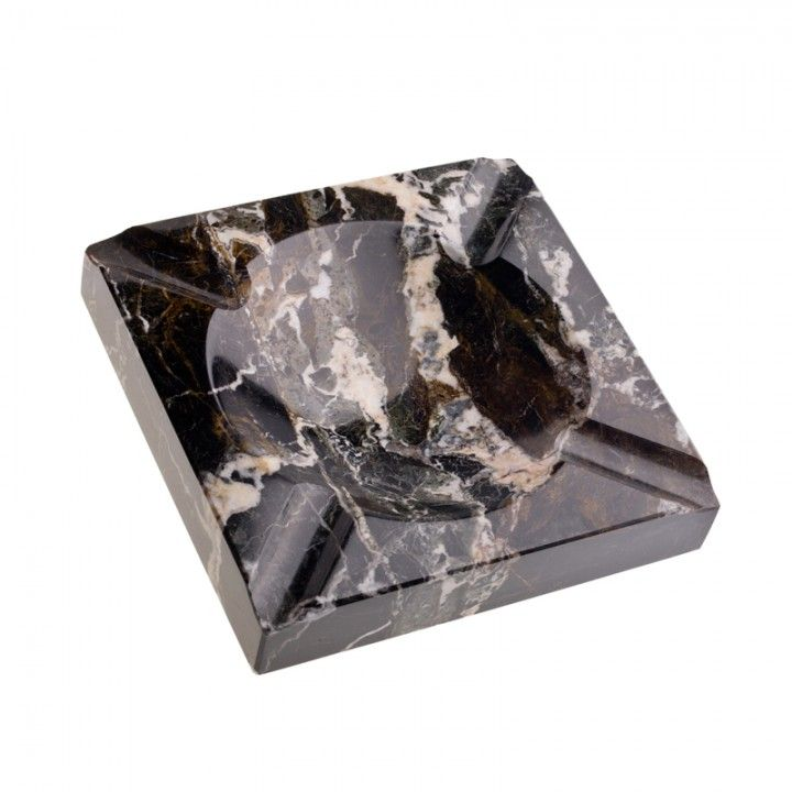 Cigar Ashtray Black Marble Square In Gifts Decor Marble Square Ashtray Black Marble