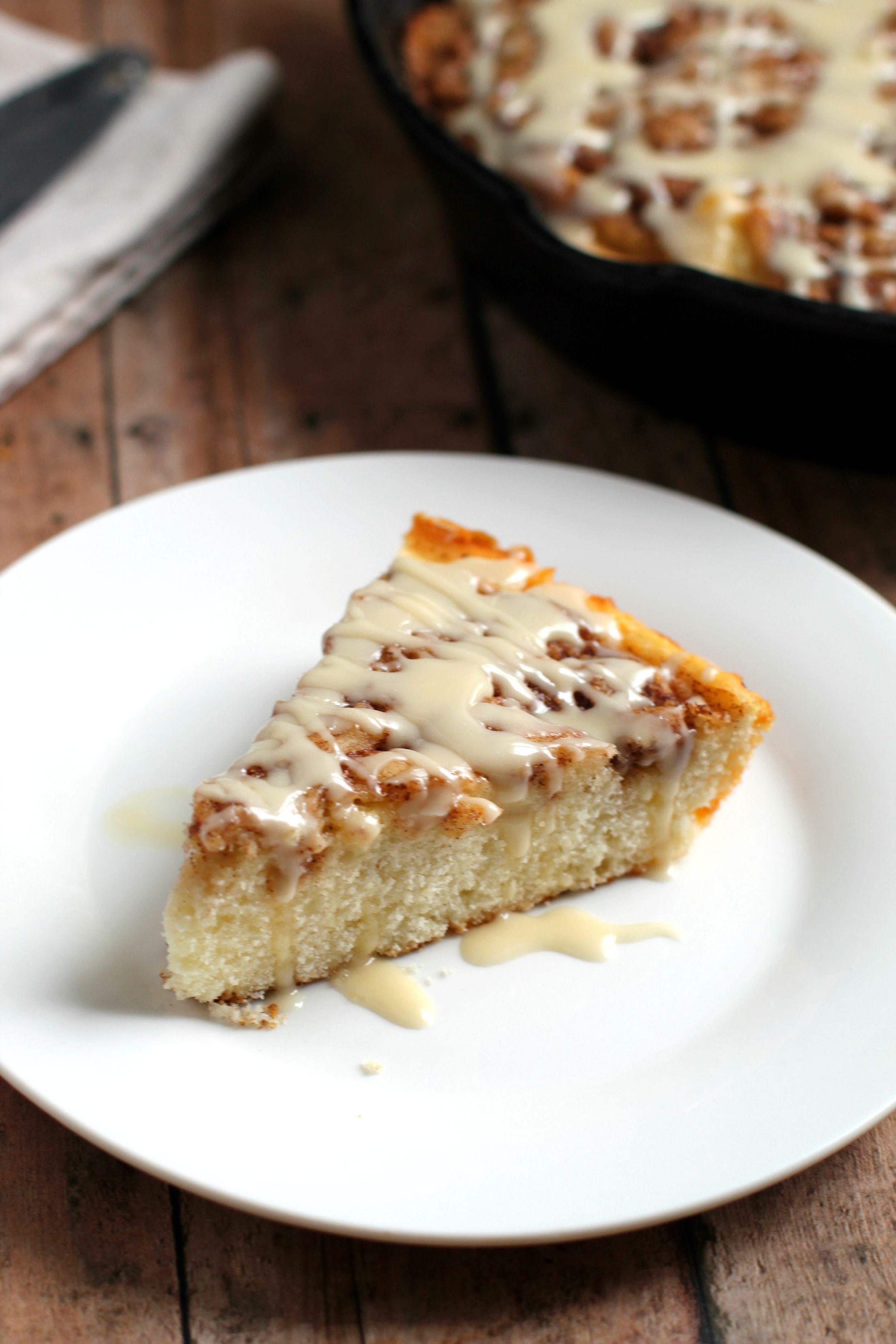 Cinnamon roll skillet cake recipe skillet cake