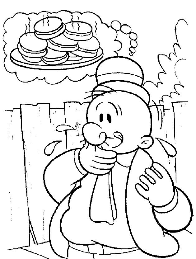 PopeyeColoringPages  Coloring Page of Popeye the Sailor Man