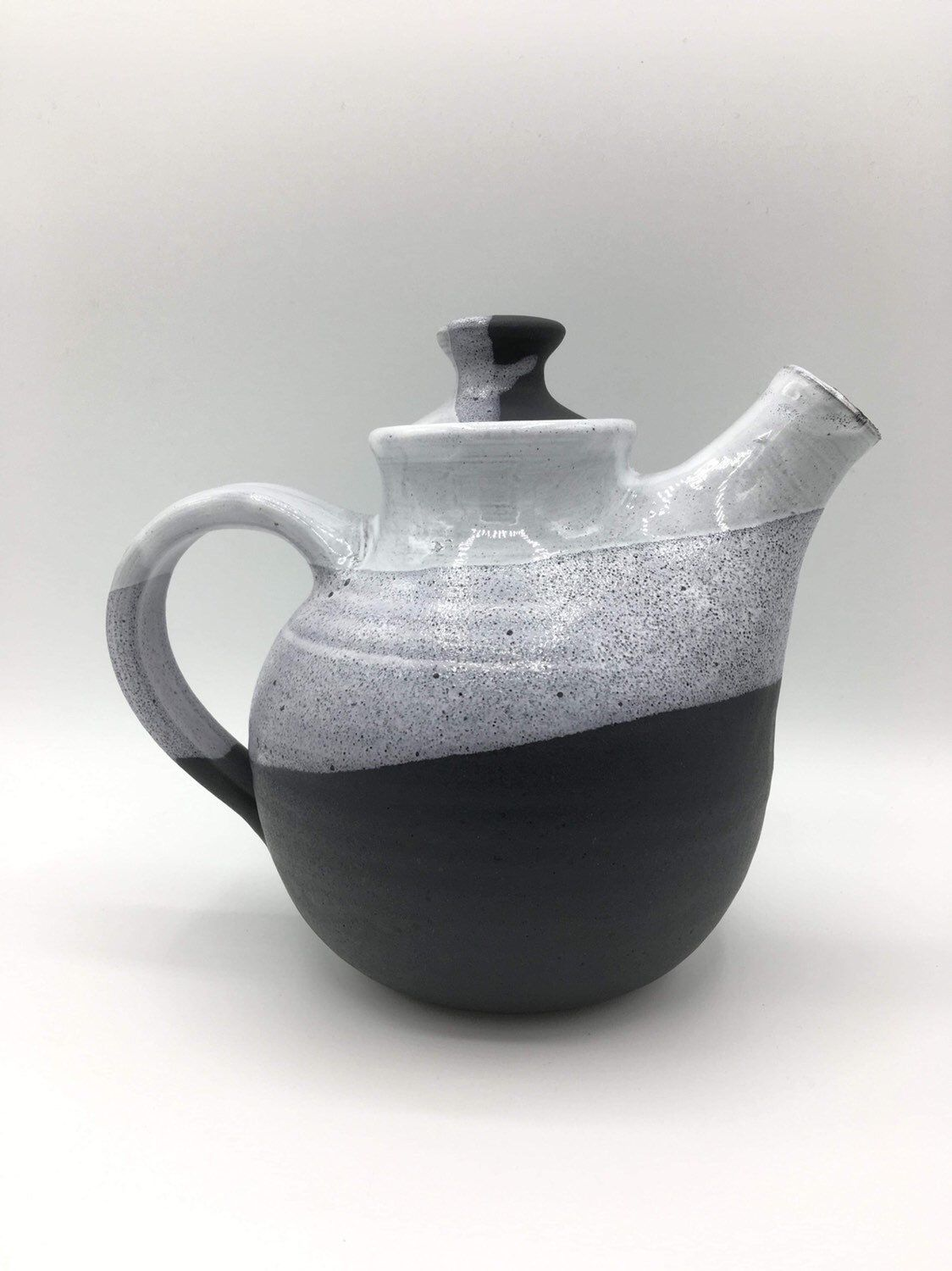 Excited To Share This Item From My Etsy Shop Ceramic Teapot Handmade Pottery Black And White Housewares Ceramic Tea Set Ceramic Teapots Handmade Teapot