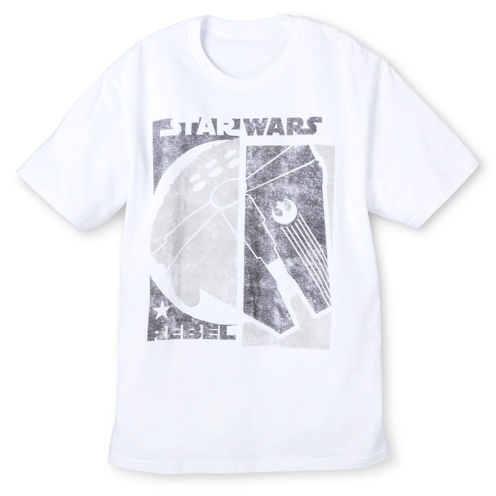 Men's Xxl Star Wars Rebel T-Shirt White