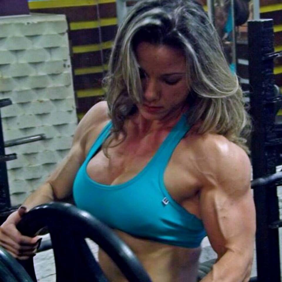 Blonde muscle women
