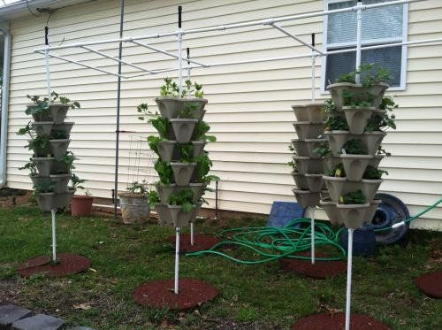 New 20 Individual Stacking Hydroponic Pots