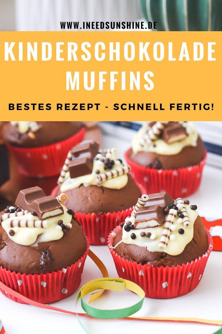 kinderschokolade muffins torte mehr fuer