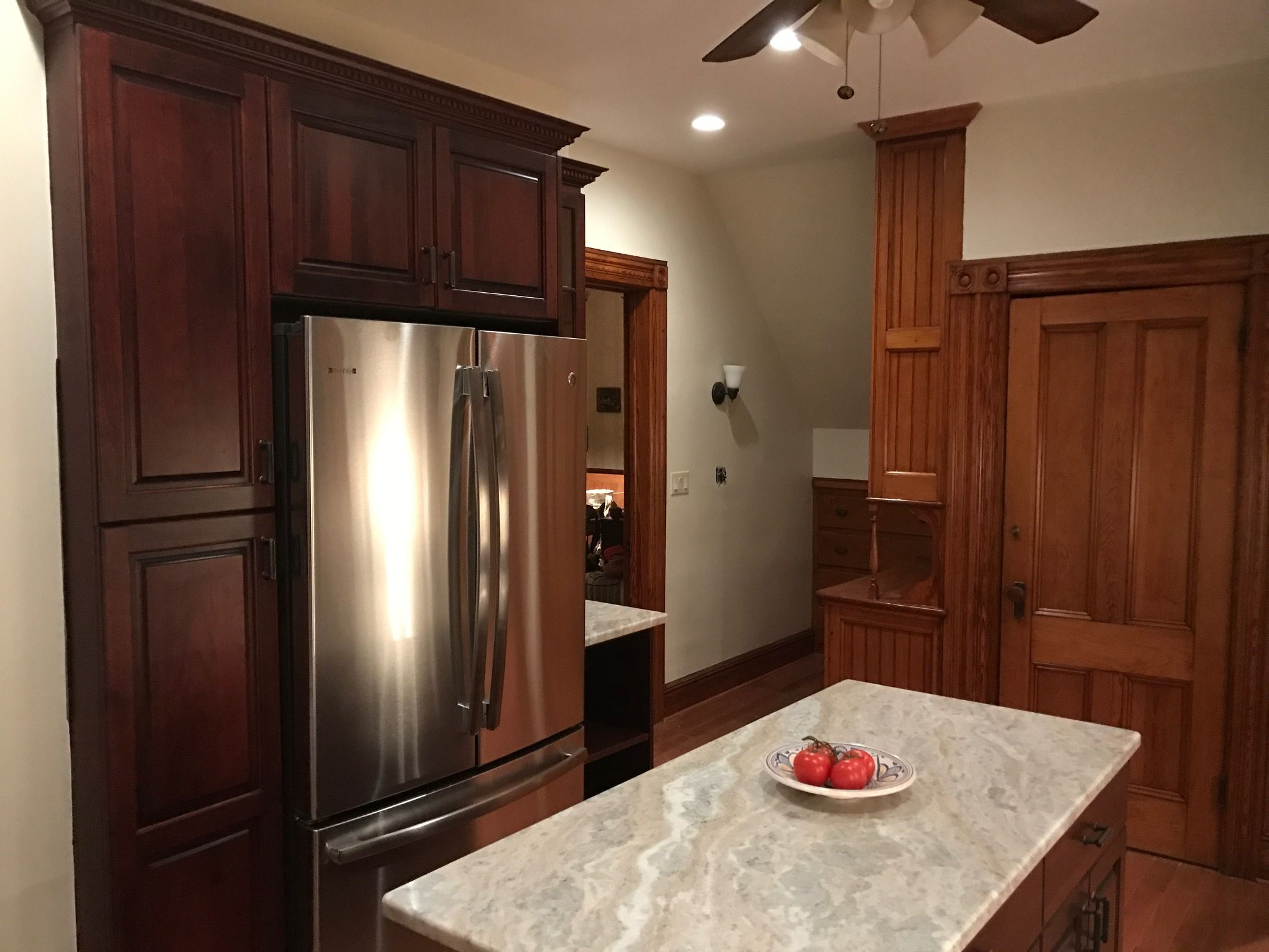 Newly Finished Kitchen Incorporating The Old With The New Onthespothomeimprovements Home Improvement Companies Kitchen Home Decor