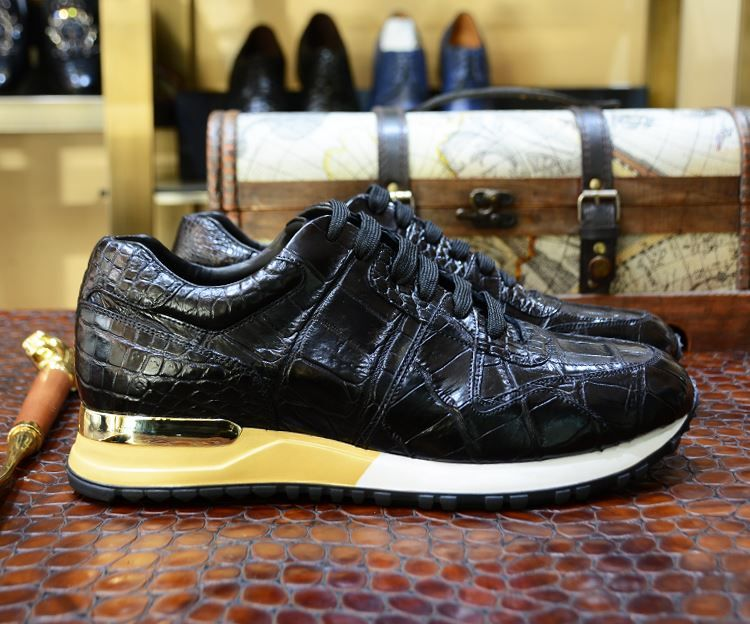 e6d7dd41f8 Alligator Skin Sneakers for Men |