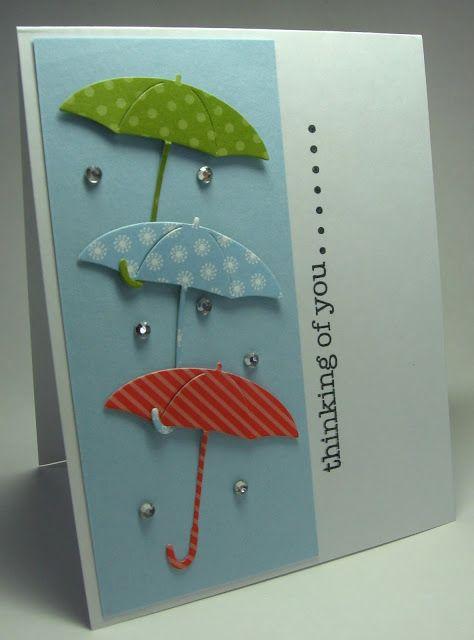 Thinking Of You Umbrella Cards Cards Handmade Greeting Cards Handmade