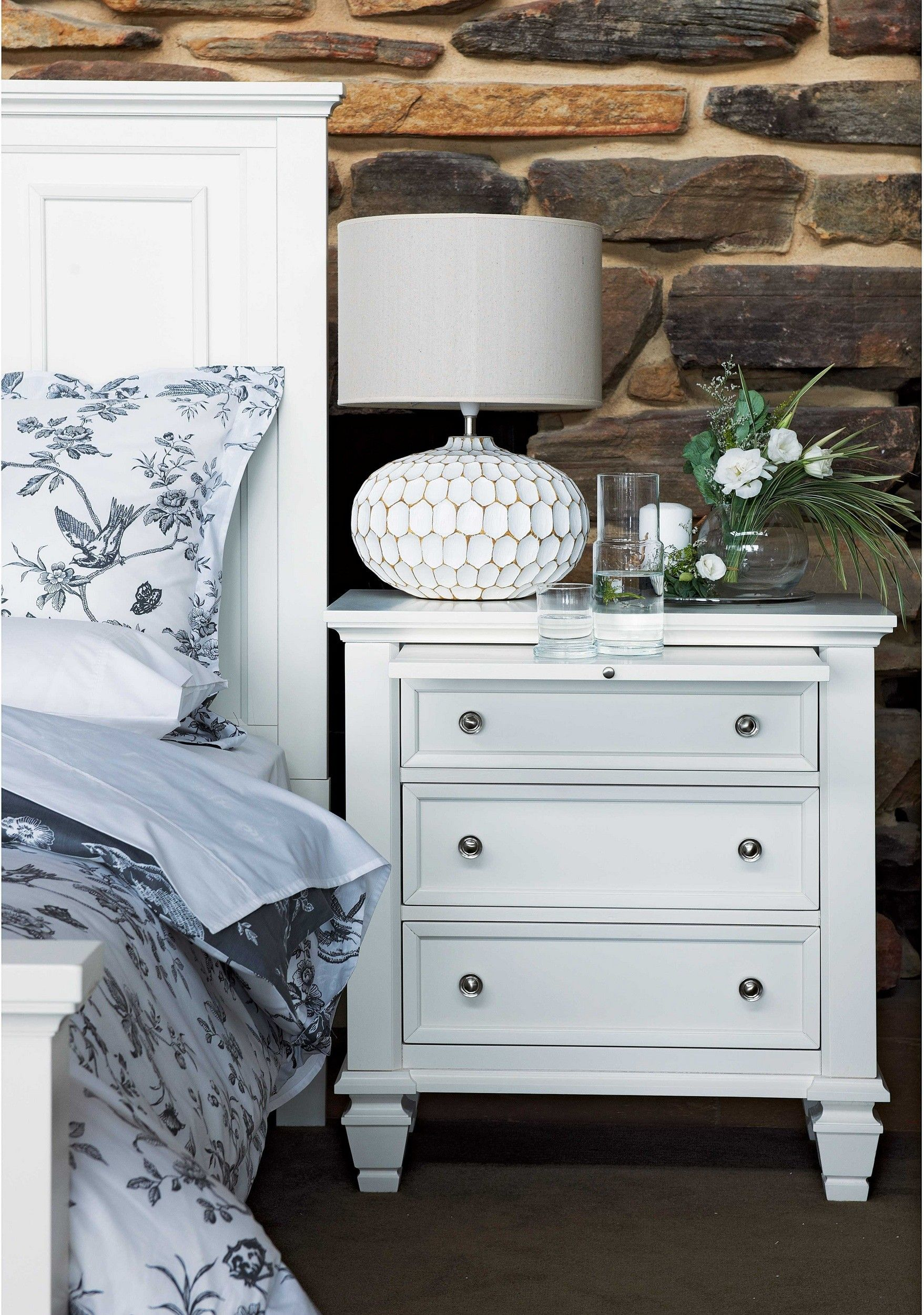 Glenmore Bedside Table | Table, Bedside table, Home decor