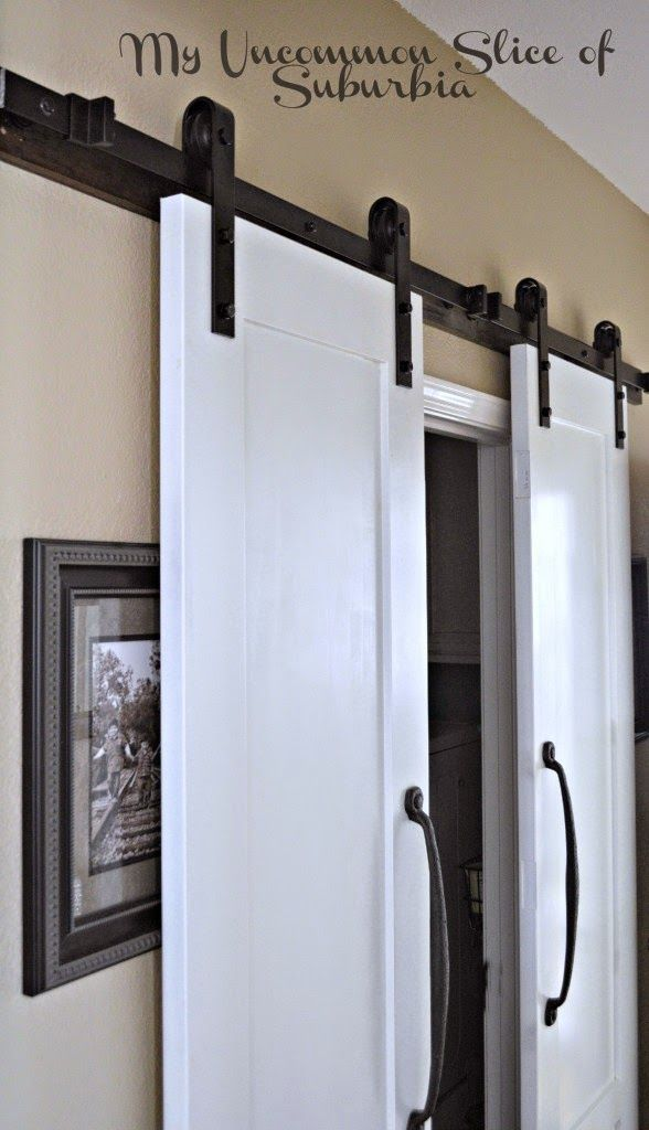 maximize a small space with barn doors doors laundry rooms & DIY And Crafts: Save space in a small room by replacing a regular ...