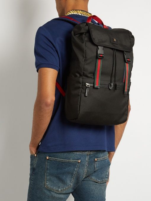 d32dafc024b9b0 $1,250 - GUCCI TECHNO CANVAS BACKPACK - SOLD by GUCCI | The Grown Up ...