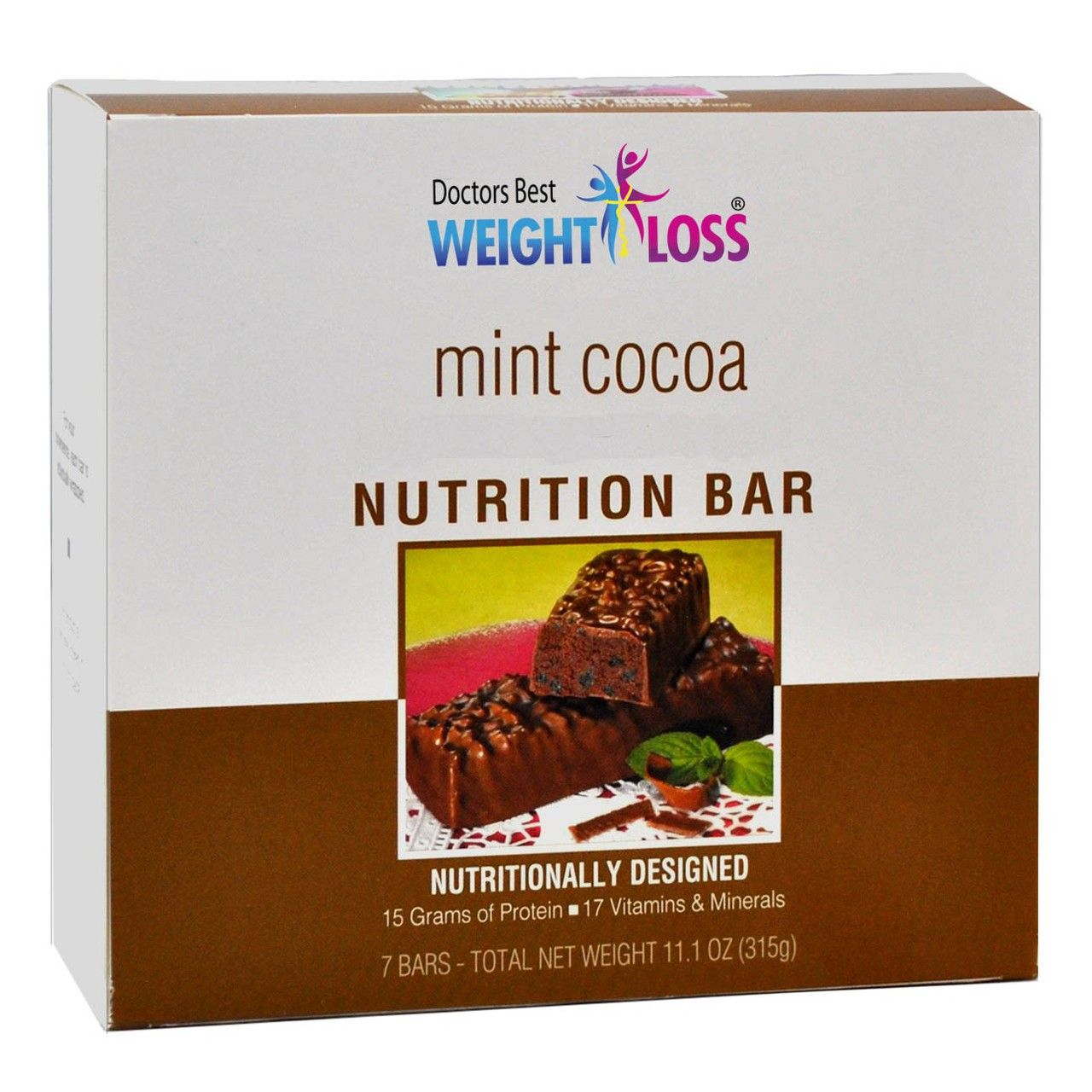 (7 bars per box) A chewy, slightly crispy, chocolately treat with a hint of mint flavor. This bar can easily get you over your chocolate cravings, giving you taste and nutrition on a level that will exceed your expectations. Our Mint Cocoaaspartame-free protein diet bars boast 15 grams of protein,...