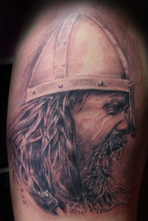 Tattoo viking warrior head - exceptional artwork! | Abs ...