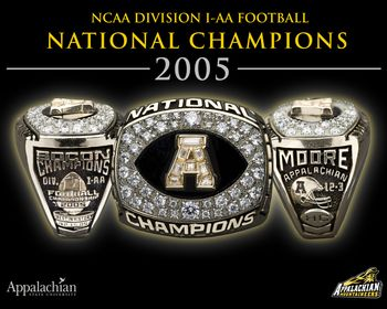 Coach Jerry Moore's 2005 Championship Ring Picture at