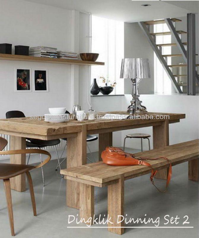 Teak Indoor Furniture Indonesia Dingklik Dining Set 01 - Buy Teak ...
