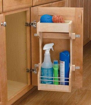 Cocina organizador en puerta bajo mesada ideas para el hogar pinterest organizadores - Organizador armarios cocina ...