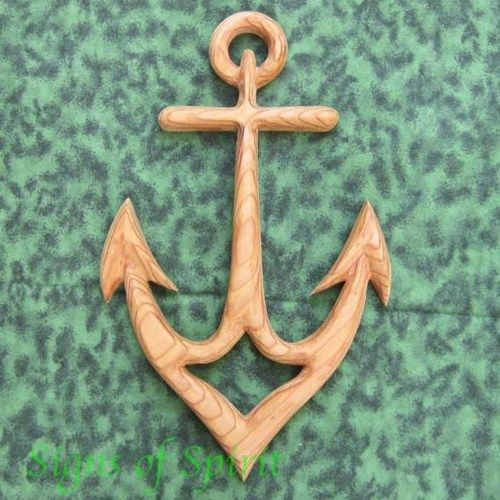 Nautical Anchor Carving Sailor Connection Strength Christian Hope