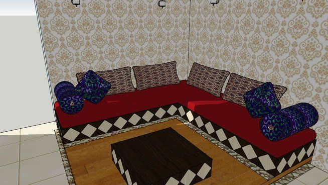 Make Interior Design Living Room Using Sketchup Beautiful ...