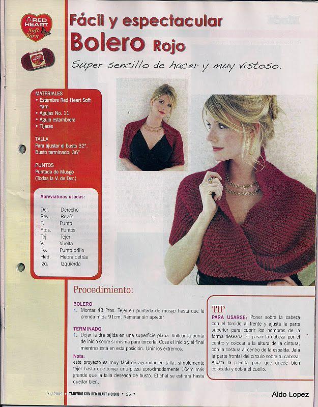 ARAÑA TEJE TEJE: fabric accessories | shrug or shawl | Pinterest ...