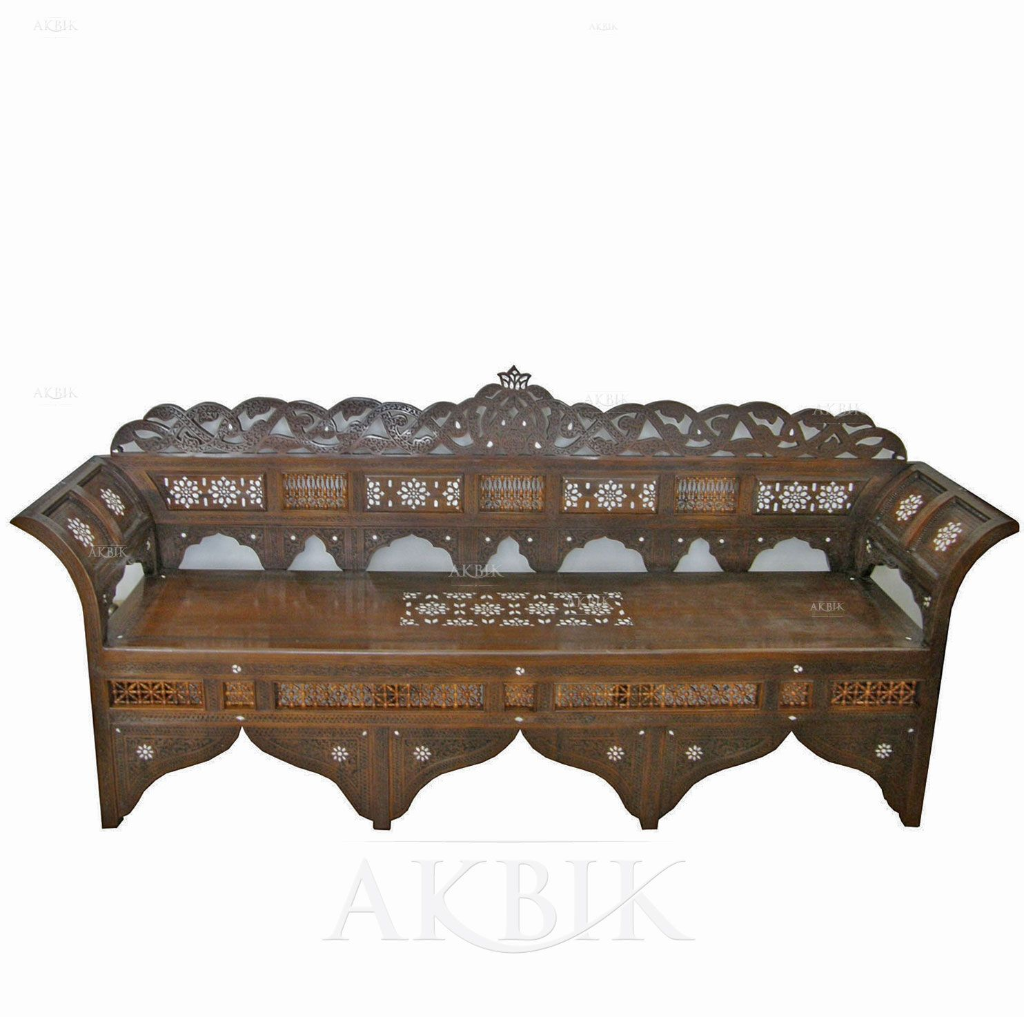 Picture Of Style No 51388 Arabesque Moroccan Wooden Bench Sofa