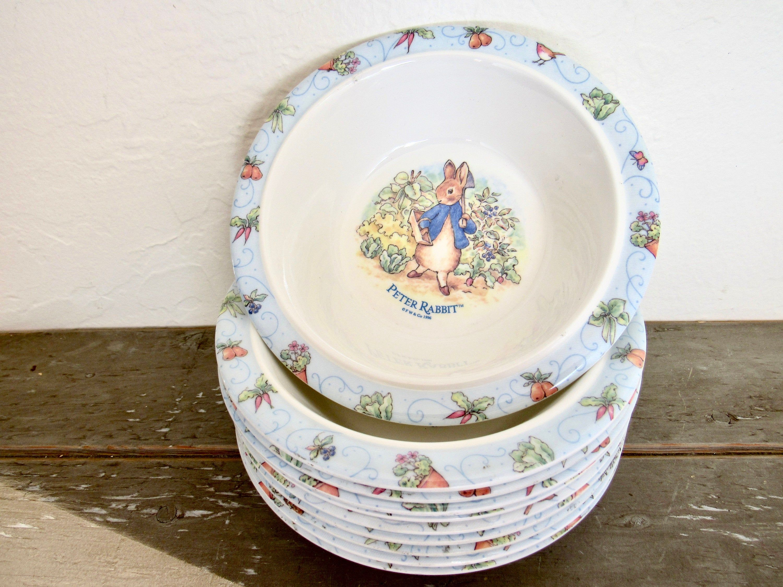 Peter Rabbit Bowls Set Of 10 Melamine Children Bowls Cereal Bowl Toddler Bowl Toddler Bowls Pink Cups Bowl Set
