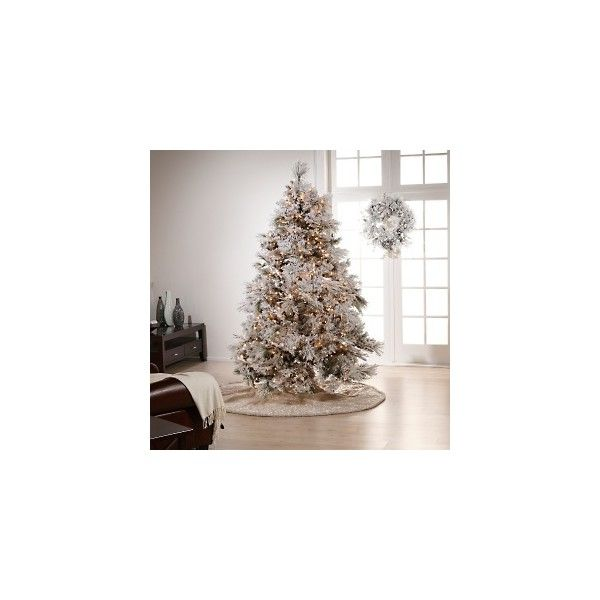 Colin Cowie Flocked 7-1/2\u0027 White Artificial Christmas Tree at HSN