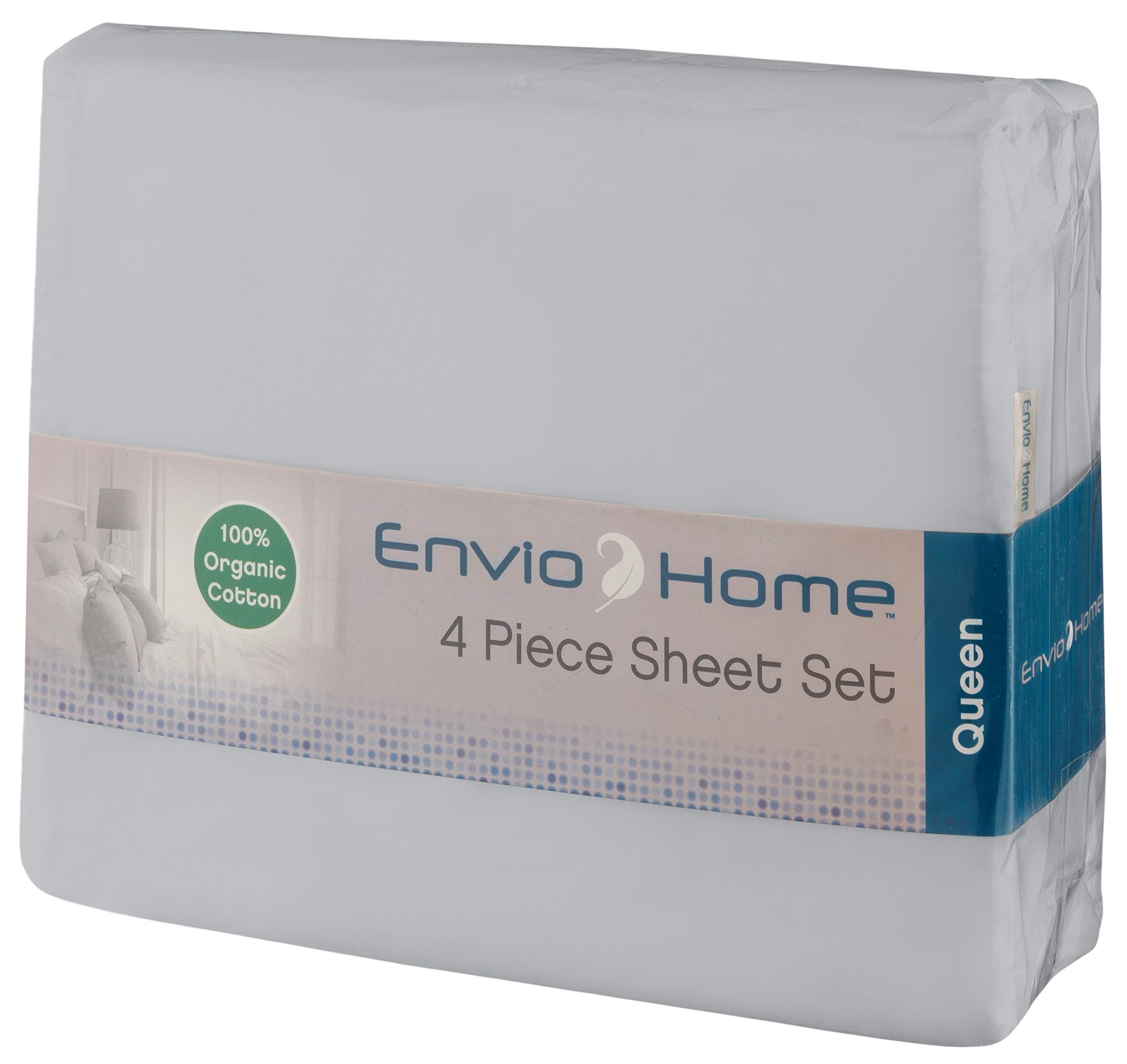 Enviohome Organic Cotton Gots Certified Sheet Set Deep Pockets Ultra