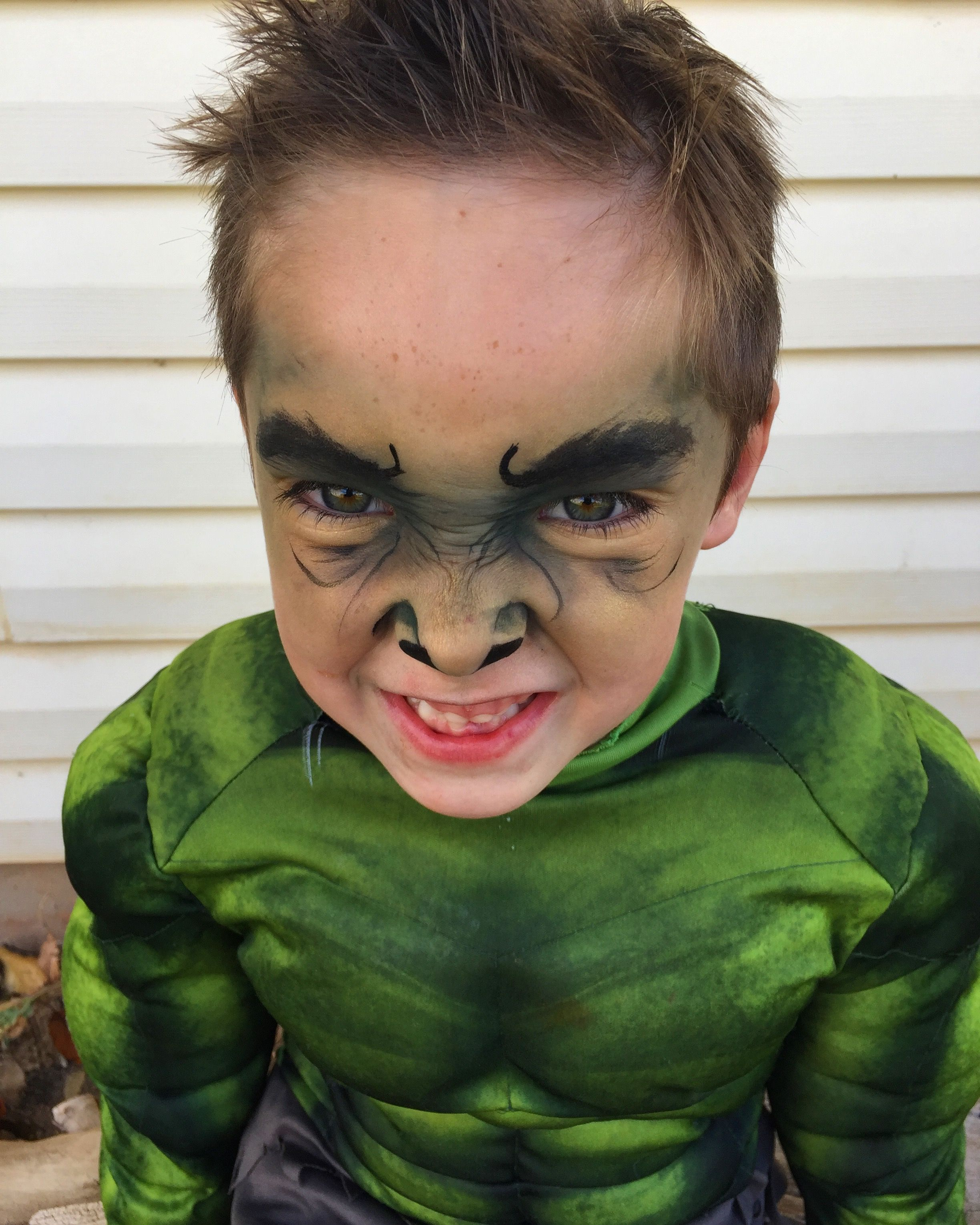 Incredible Hulk Makeup Little Boys Hulk Makeup For Halloween Hulk Kids Halloween Makeup Kids Face Paint