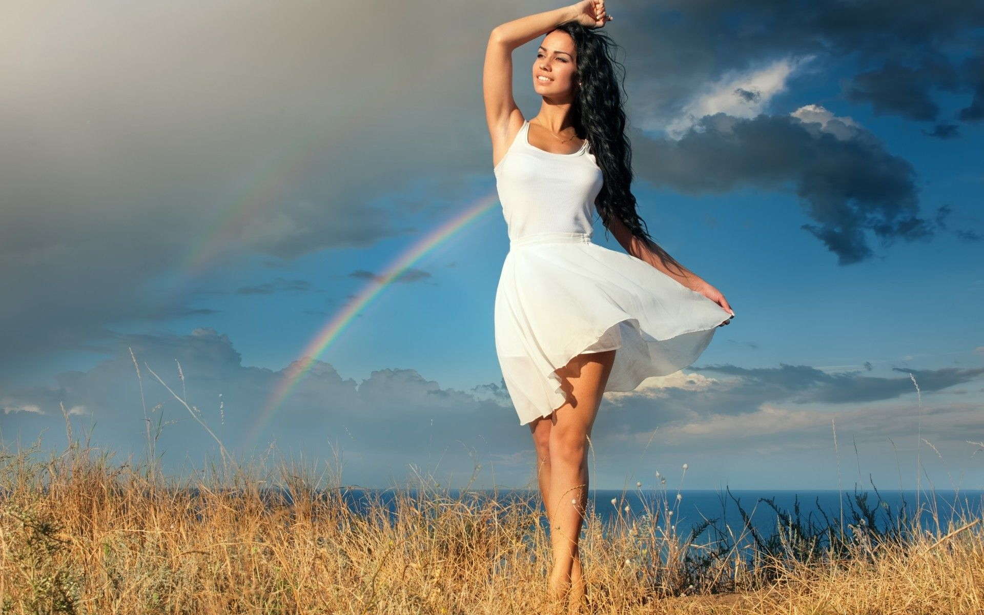 Картинки по запросу девушка в платье природа | Счастливые ...