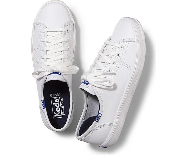 Keds Kickstart Leather In White/blue