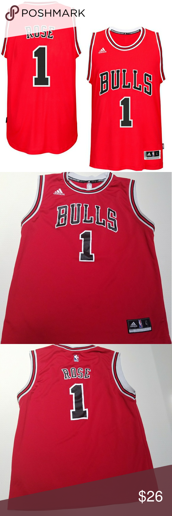 uk availability 54497 9cb5a Spotted while shopping on Poshmark: Chicago Bulls Derrick ...