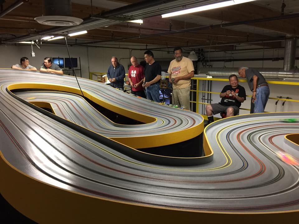 Six Lane Club Hillclimb San Carlos Ca Slot Racing Slot Car Tracks Slot Car Racing
