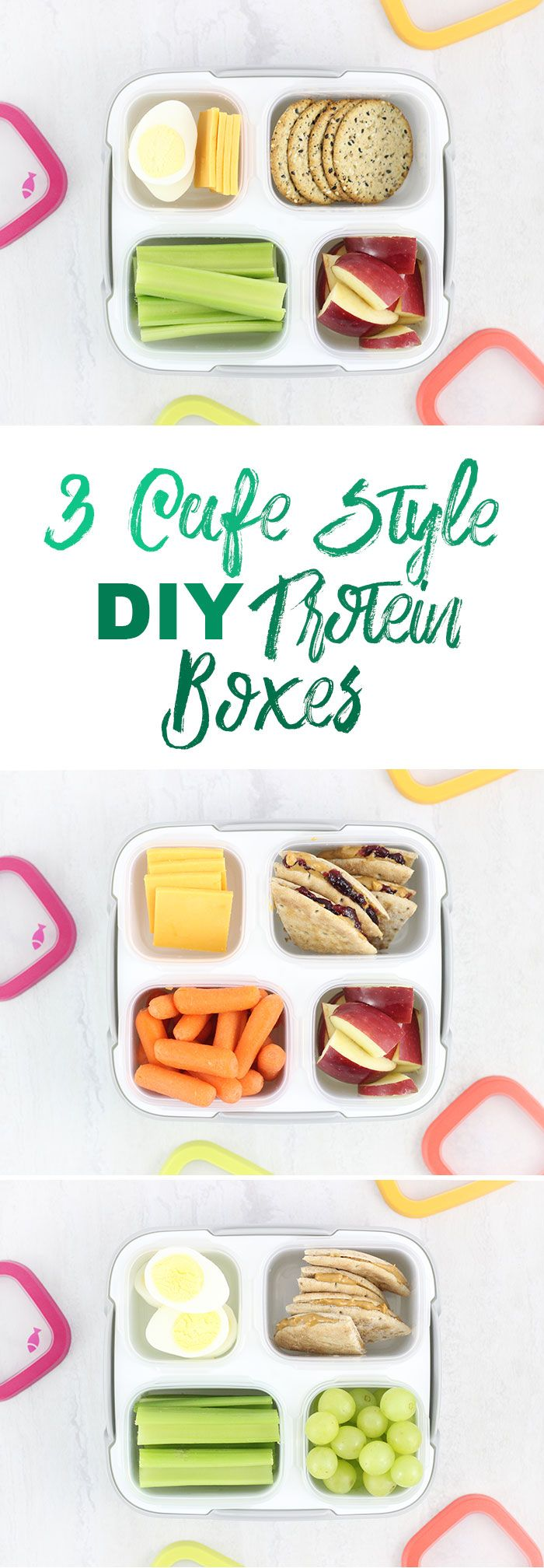 Protein Boxes. 3 DIY Ideas to make cafe style lunch at home. #ad ...